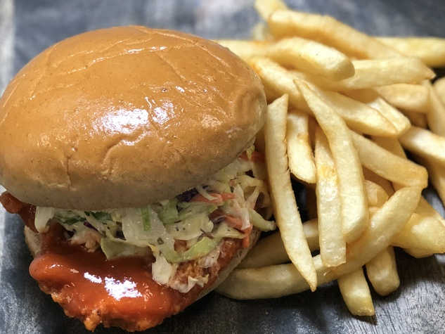 Toyota Center firecracker chicken sandwich