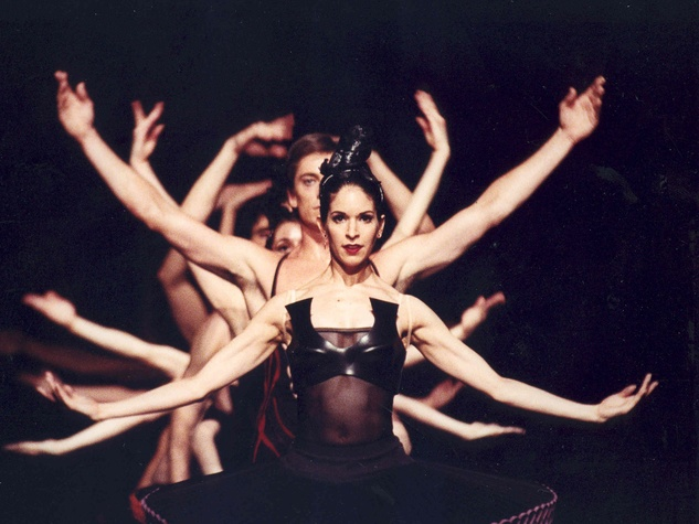 Houston Ballet Mireille Hassenboehler and artists of the Houston Ballet in Divergence choreographed by Stanton Welch
