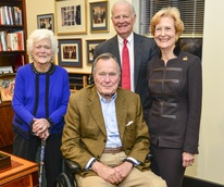 12 Barbara and President H.W. Bush, from left, and James and Susan Baker at the Baker Institute reception December 2013