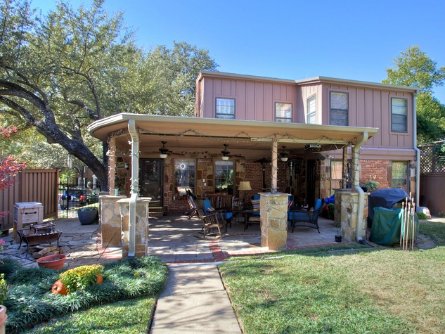 Backyard at 3197 Westcliff Rd. in Fort Worth