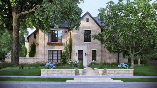 Houston, News, Shelby, Sudhoff Hampton Lane Collection, April 2015, 2203 Looscan - front elevation