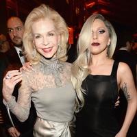 Lynn Wyatt and Lady Gaga at Vanity Fair Oscar party February 2014