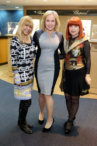 Tina Raham Stewart, from left, Deana Blackburn and Elina Htun at the Alley Theatre Gala Kick-Off March 2015
