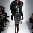 Fashion Week fall 2013, Dennis Basso, February 2013, leather and fur short coat