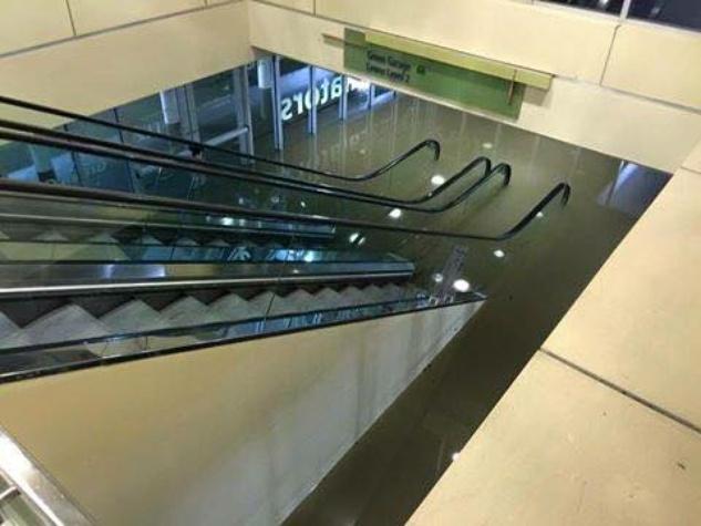 Flooding in Galleria parking garage
