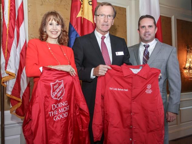 Houston, Salvation Army annual luncheon, Nov 2016, Vicki West, Neil Bush, Ken Holbrook