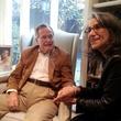 George H.W. Bush and Sheikha Hussah Sabah al-Salem al-Sabah at Bush home in Houston