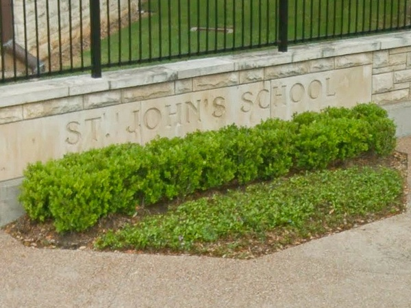 St. John's School, sign, fence