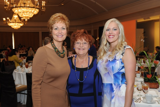4 Betty Puryear, from left, Paula Wright and Jenny Price at the Assistance League luncheon October 2014