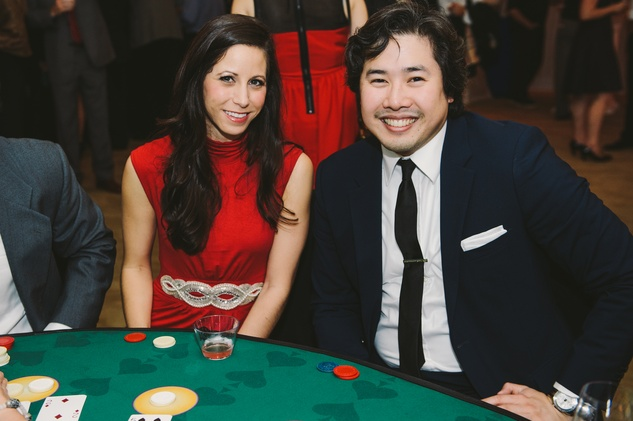 Price Stevens and Alan Cho at Houston Symphony Young Professionals Backstage's Luck be a Lady event November 2013