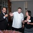 Rex Koontz, Phoenicia baker Fabrice Maraine, Susana Monteverde at UH School of Art fundraiser April 2014