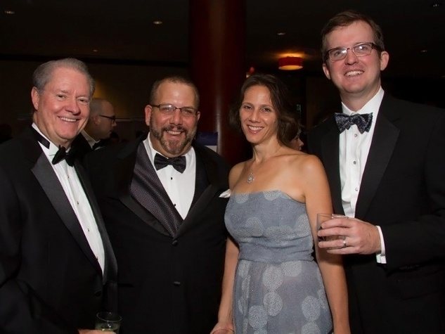 John Pitts, from left, Paul Dewey and Kimberly and Bradley Dennison at the Big Brothers Big Sisters Gala September 2014