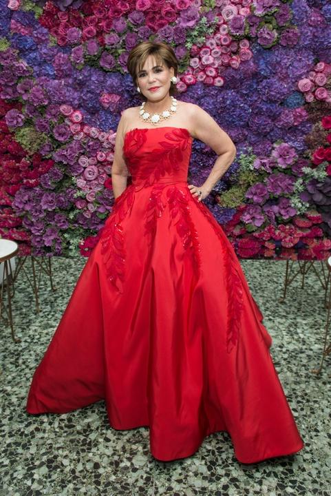 Hallie Vanderhider in Oscar de la Renta at MFAH Grand Gala Ball 2017