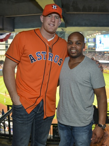 0006, Astros Opening Day Owner's Box, April 2013, J.J. Watt, Mike Parson