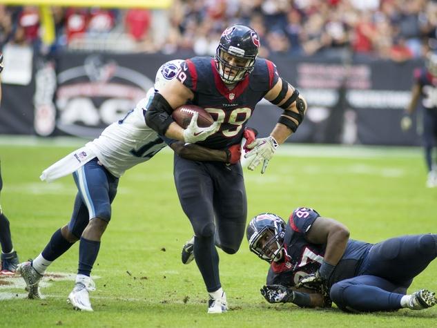 Texans J.J. Watt dragging