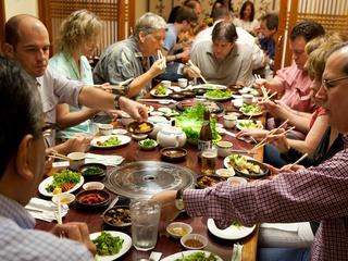 Nam Gang Houston Korean barbecue diners
