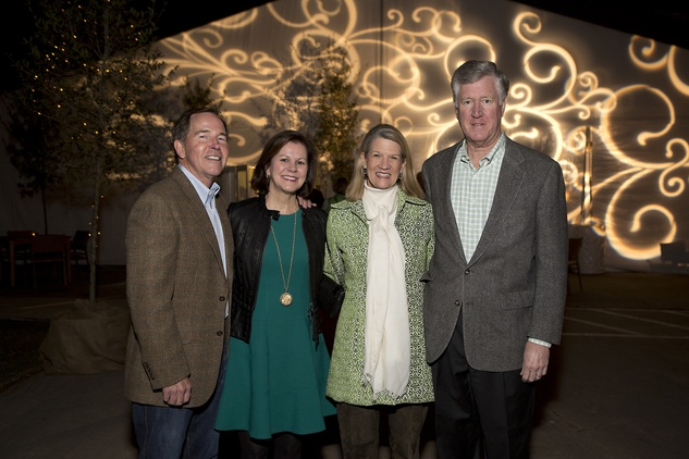Bob and Sally Mansell, from left, and Gayle and Richard Hightower at the Memorial Park Conservancy benefit February 2015