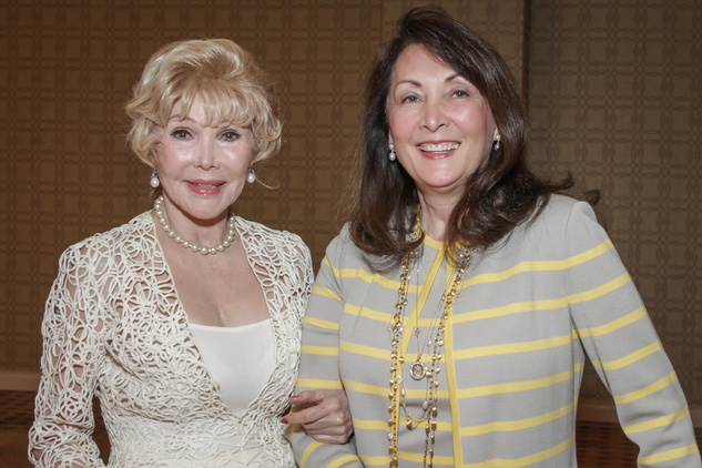 3 0256 Joanne King Herring, left, and Penny Lloyd at the Women's Home tea April 2015
