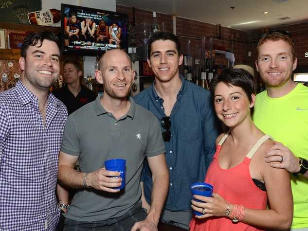 Chris Christie, from left, Graeme O'Gorman, Ryan Connell and Jacqui and Mike Hertlein at the Women of Wardrobe Spring Fling March 2014