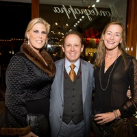 47 Courtney Hopson, from left, Franco Valobra and Hollis Grace at the Valobra Pin Oak holiday party December 2014