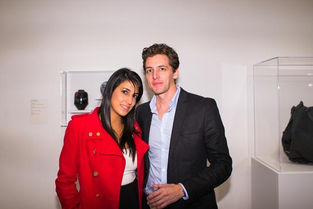 Deborah Puevedo and David Jacobson at the MFAH Art Crowd Party November 2014
