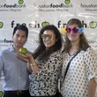Dan Quach from left, Katherine Johnson, and Sarah Sliffe at the f.r.e.s.h. new young professionals group party june 2014.