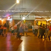 interior of Twin Sisters Dance Hall in Blanco
