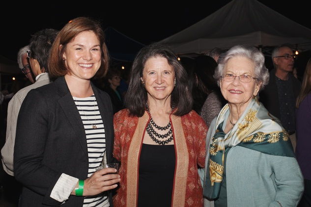 46 Mary Sommers Pyne, from left, Fanny Morris and Susie Morris at the Urban Harvest 10th anniversary dinner November 2014