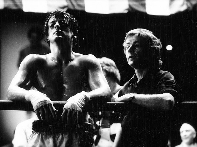 Sylvester Stallone and John G. Avildsen in Rocky