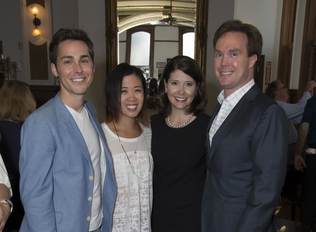 Brandon Weinbrenner, Karen Man, Paige and Bob Martin, Alley Theatre young professionals, Sept. 2014