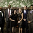 5 Sammy Ford IV, from left, Travis Torrence, Anna Archer, Nicole  Voyles, Brian Albrecht and Ashish Mahendru at the Houston Bar Association Harvest Celebration November 2014