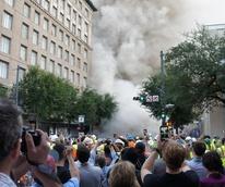 Macy's Foley's implosion explosion building demolition