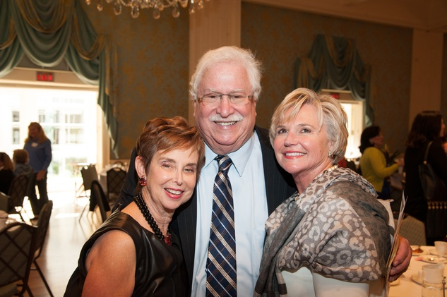 Evelyn and Dan Leightman, from left, with Billie Sue Parris at the Art of Conversation November 2014