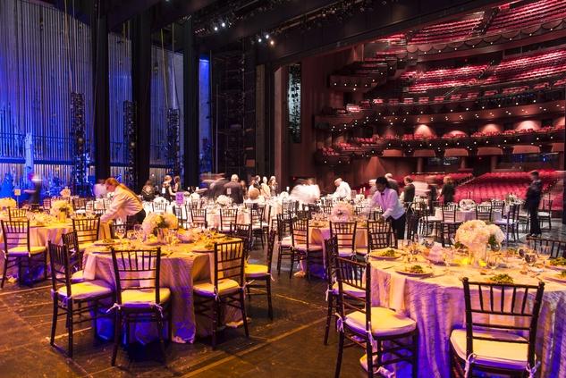 Stage setup at the Houston Ballet Jubilee of Dance Onstage Dinner December 2014