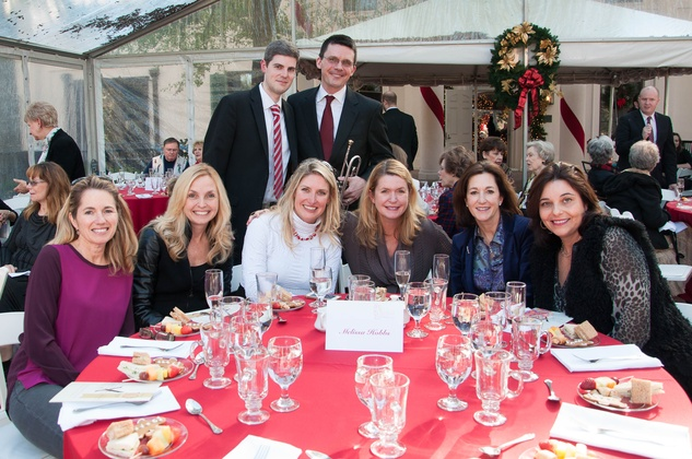 14 Gavin Reed, George Chase (back row). Allison Parsley, Lisa Hauser-Carter, Melissa Hobbs, Suzanne Dildy, Leah Ragiel, Karen Craft at the ROCO Yuletide Concert at Bayou Bend December 2014