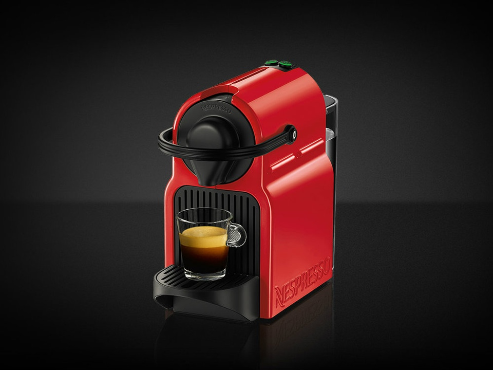 Nespresso ruby red Inissia coffee maker