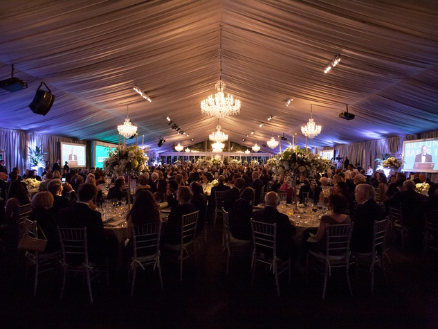 the elaborate tent setting at the Baker Institute 20th Anniversary Gala November 2013
