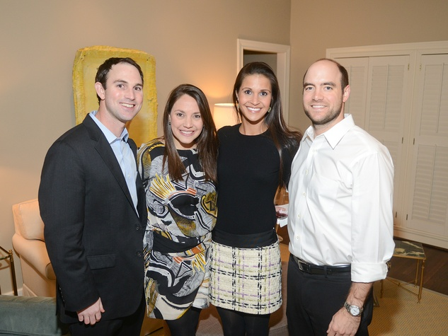 Matt and Rebecca Werner, from left, and Lauren and Curtis Cox at the JDRF gala kick-off party January 2014