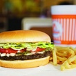 Whataburger, hamburger burger, french fries