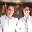 John Muschalek, Clayton Sheppard at Carry The Load fundraiser dinner at Pecan Lodge