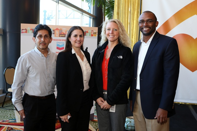 14 Johny Lopez, from left, Liliana Ramirez, Staci Rogge and Gejuan Cole with Williams at the 1 Million Dollars lunch for Good February 2015