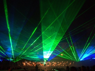 Concerts in the Garden laser light show