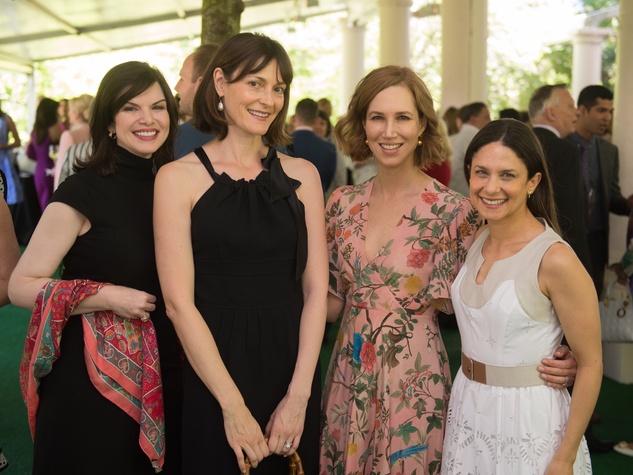 Mary Olga Lovett; Vicky Wight; Carolyn Doros; Karen Farber at Bayou Bend Oscar de la Renta