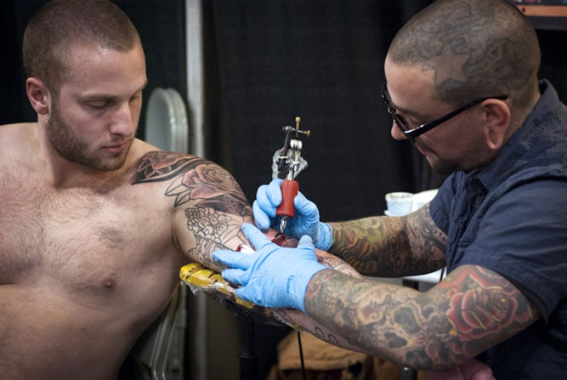 Tattoo enthusiasts come together for the 10th annual star for Tattoo artists austin tx