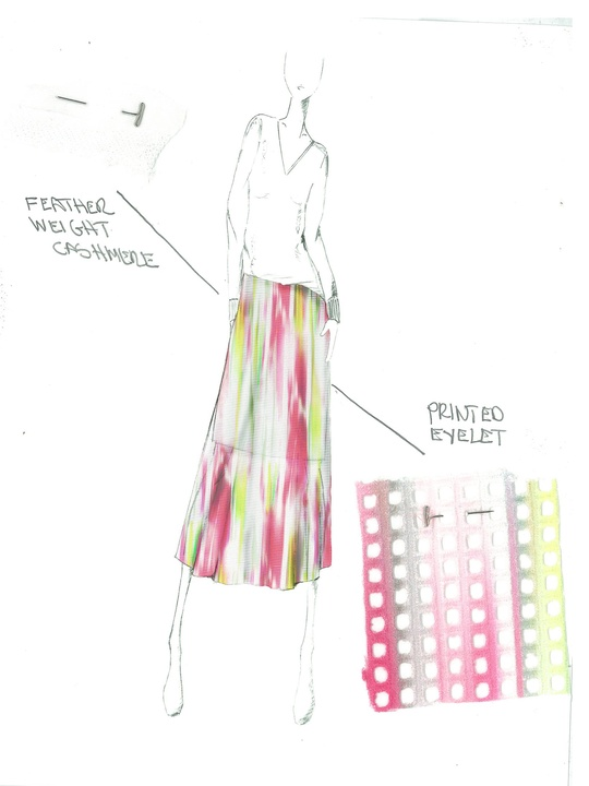 Fashion Week spring 2015 sketch Sept. 2014 Elie Tahari_Sketch_Future Bohemian