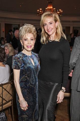 Margaret Alkek Williams, left, and Patricia Dewhurst at the Cornerstone Dinner February 2015