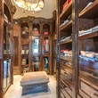 His master closet at 9625 Preston Rd. in Dallas