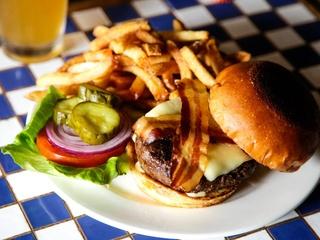 Cheeseburger at The Grape restaurant in Dallas