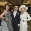 22 Jessica Rossman, from left, Edward Sanchez and Carolyn Farb at the Latin Womens Initiative May 2014