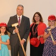 Lily Mach, from left, Butch Mach, Carmen Mach and Isabella Mach at the Alley Theatre groundbreaking luncheon July 2014
